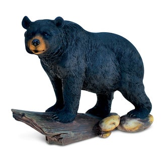 Puzzled The Wild Collection Decor Resin and Stone Black Bear Sculpture