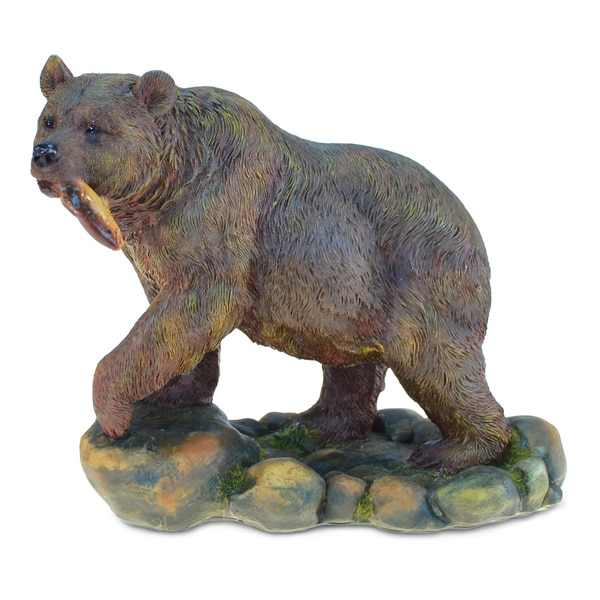 42e91b5e5fbbc Shop Puzzled The Wild Collection Resin and Stone Grizzly Bear Statue ...