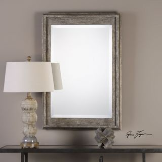 Uttermost Allegan Antiqued Silver Mirror