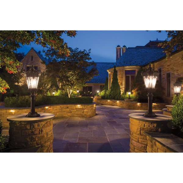 Kichler lighting tournai collection 4 light londonderry outdoor post mount
