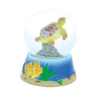 Puzzled 'Sea Turtle' Stone and Resin 65-millimeter Snow Globe