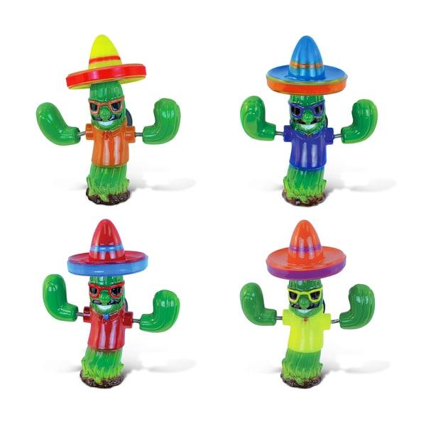 Puzzled 'Cool Cactus' Multicolored Plastic Bobble Magnet