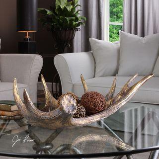 Uttermost Moose Antler Rustic Bowl
