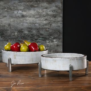 Uttermost Essie Pale Gray Bowls (Set of 2)