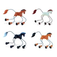 Puzzled Plastic Horse Springy Magnet (Set of 4)
