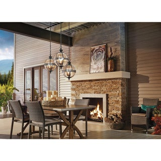 Link to Kichler Lighting Halleron Collection 3-light Londonderry Outdoor Pendant Similar Items in Outdoor Ceiling Lights