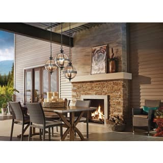 Kichler Lighting Outdoor Kichler lighting outdoor lighting for less overstock kichler lighting halleron collection 3 light londonderry outdoor pendant workwithnaturefo