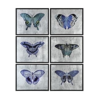Uttermost Vibrant Butterflies Prints (Set of 6)