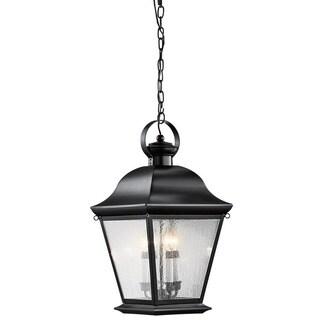Kichler Lighting Mount Vernon Collection 4-light Black Outdoor Pendant