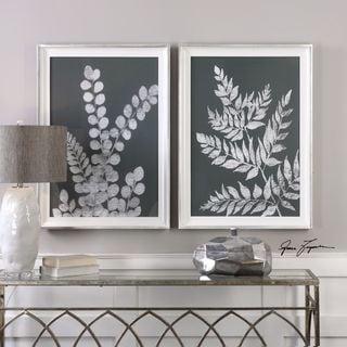 Uttermost White Ferns Prints (Set of 2)