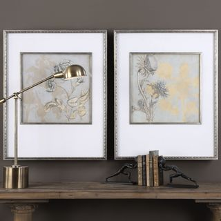 Uttermost Shadow Florals Prints (Set of 2)