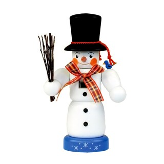 Christian Ulbricht Mini Painted Snowman Nutcracker