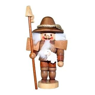Christian Ulbricht Brown Wooden Mini Shepherd Nutcracker