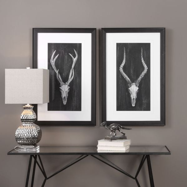 Uttermost rustic european mounts prints set of 2