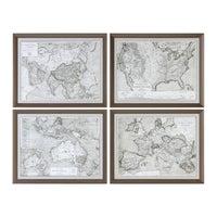 Shop Uttermost Paris Scene Framed Art Set Free Shipping Today - Framing a map print