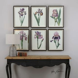 Uttermost Iris Beauties Floral Prints (Set of 6)