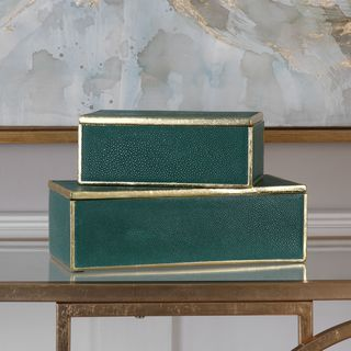 Uttermost Karis Emerald Green Boxes (Set of 2)
