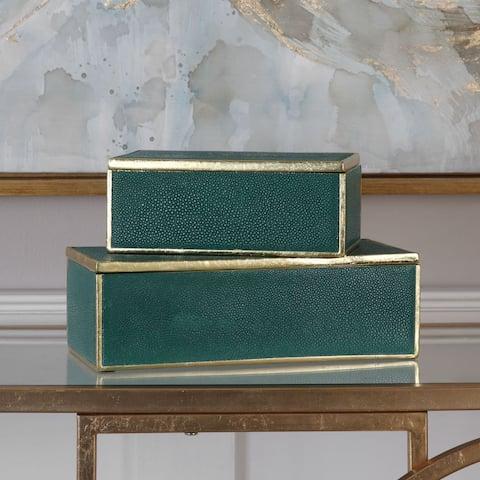 Uttermost Karis Emerald Green Boxes (Set of 2)