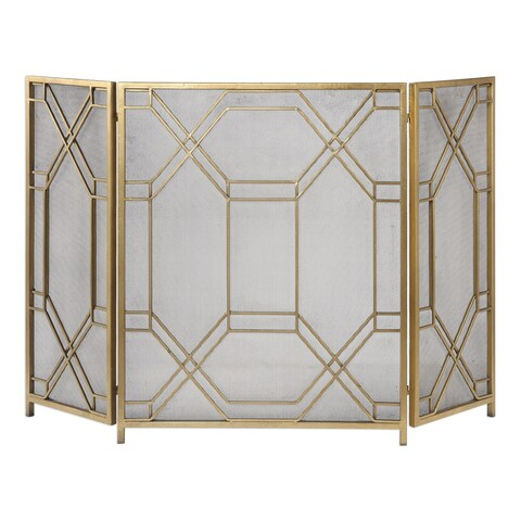 Uttermost Rosen Gold Fireplace Screen