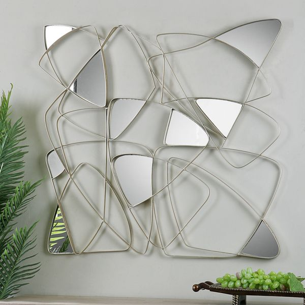 Shop Uttermost Oswin Abstract Mirrored Wall Art - Free Shipping ...