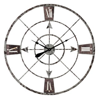 Arlington Arrow Grey Iron Wall Clock