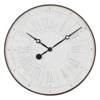 Coralie White Metal Wall Clock