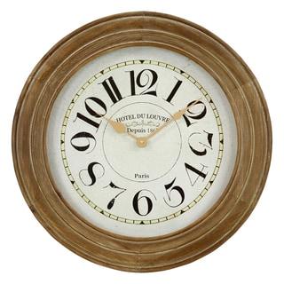 Hayes Tan/Brown Wooden Wall Clock