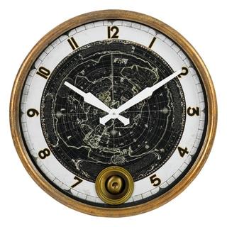 Mason Gold and White Pendulum Wall Clock