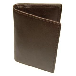 Castello Italian Brown Leather ID Window Wallet
