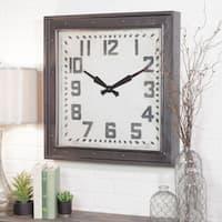 Westford Black/Grey Metal Square Wall Clock
