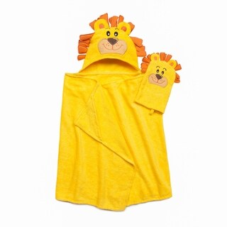 Tub Time for Tots 2-Piece Lion Hooded Bath Wrap