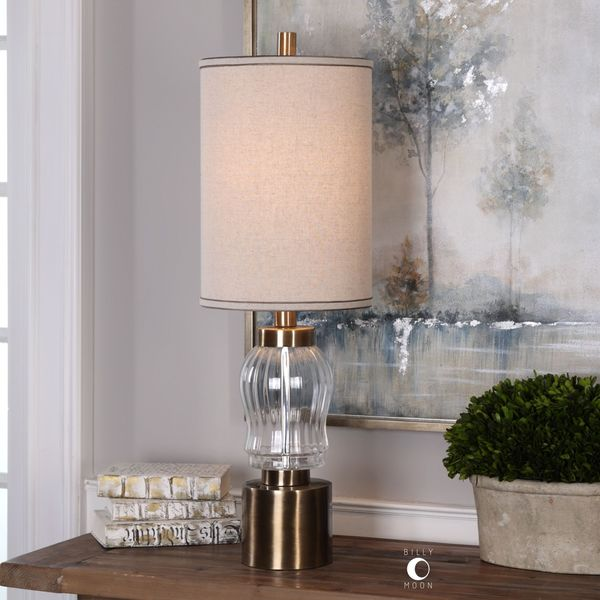 Uttermost Manuela Ribbed Glass Accent Lamp