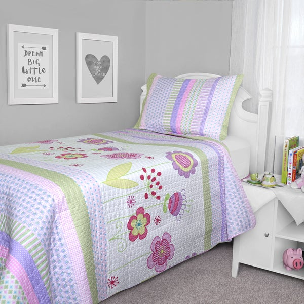 Journee Home Kid's Play & Style Printed 2-piece Quilt Set
