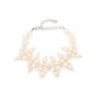 Elegant Freshwater Pearl and Bead Bracelet (Thailand)
