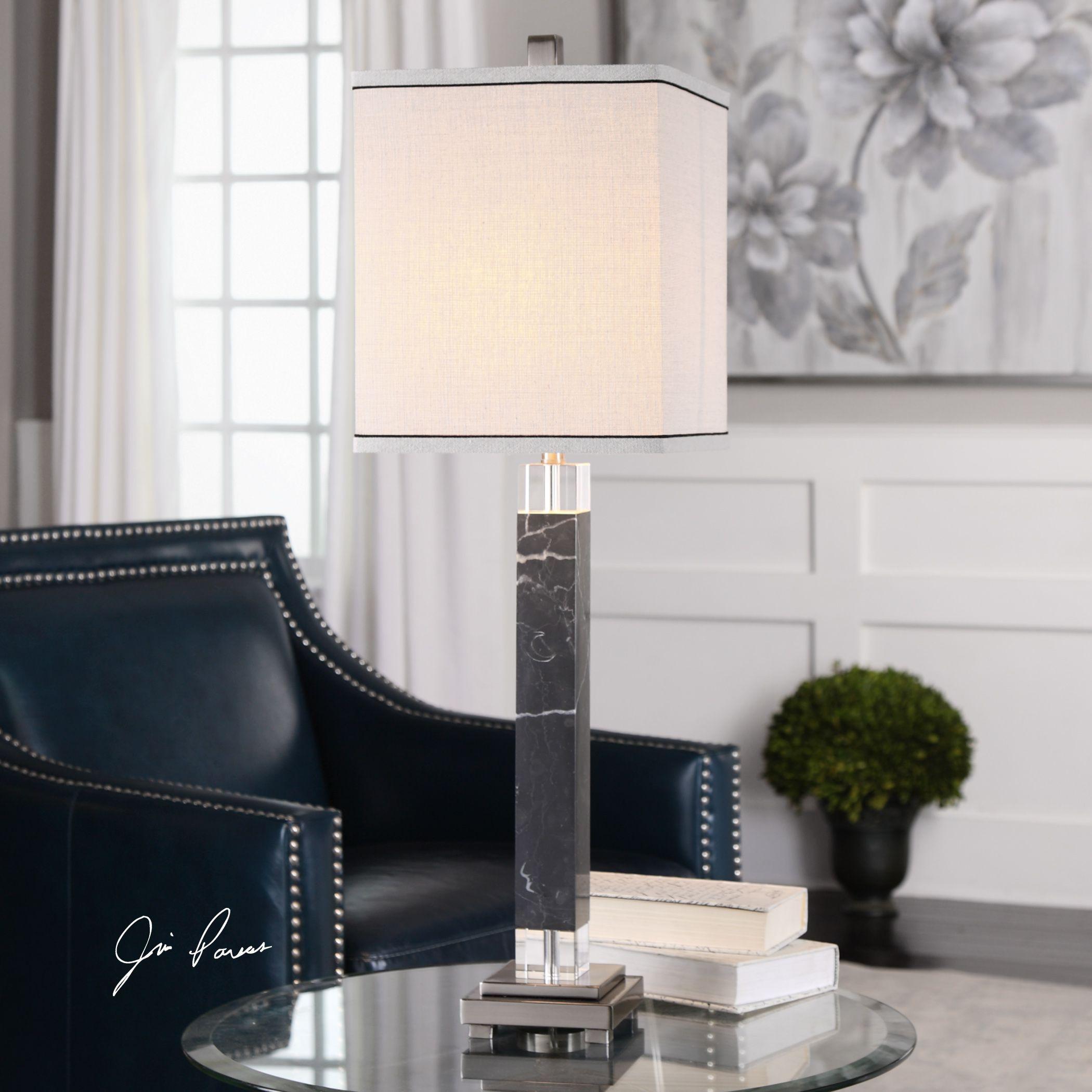 UTTERMOST Brigida Black Marble Accent Lamps (Table Lamp) ...