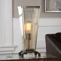 Uttermost Emidio Glass Hurricane Lamp