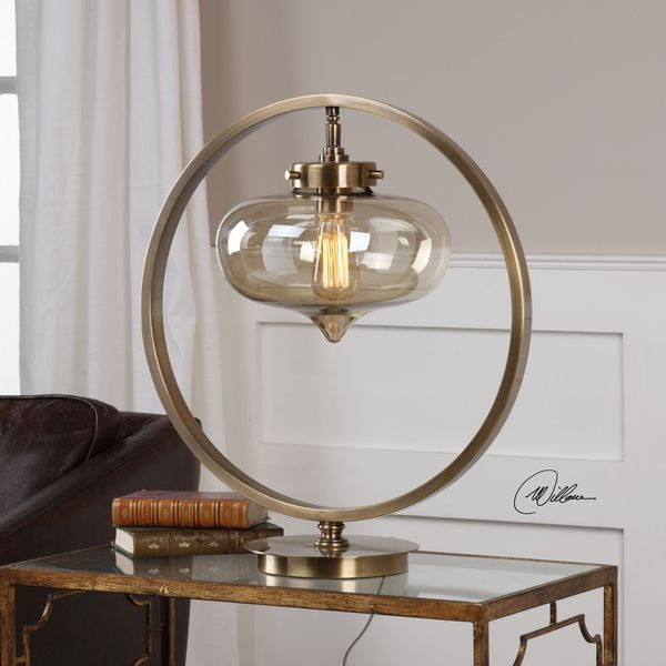 Uttermost Namura Antiqued Brass Accent Lamp