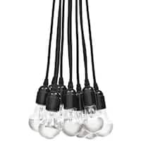 Saber Contemporary Matte Black 10-Light Chandelier