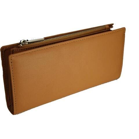 Castello Leather Snap/Zip Long Wallet