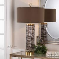 Uttermost Seaver Spun Glass Table Lamp