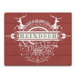 Red Apple Reindeer Treats ' Printed Wood Wall Art