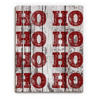 Santa's Laughter Sponged ' Printed Wood Wall Art