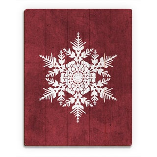 'Cinnamon Snowflake ' Printed Wood Wall Art