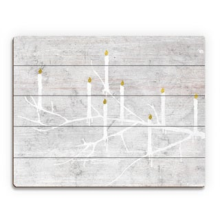 'Candle Tree Night ' Printed Wood Wall Art