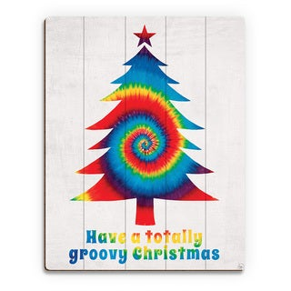 Groovy Christmas' Primary Mix Printed Wood Wall Art