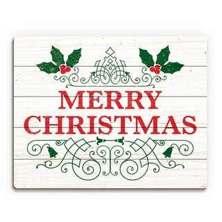 Merry Christmas' English Style Printed Wood Wall Art