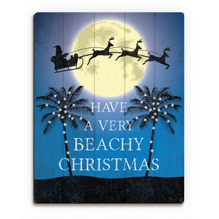 'Have a Very Beachy Christmas Night ' Printed Wood Wall Art