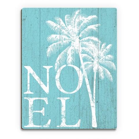 Noel Palms - Snow Day Wall Art Print on Wood