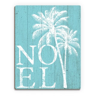 Noel Palms - Snow Day Wall Art Print on Wood