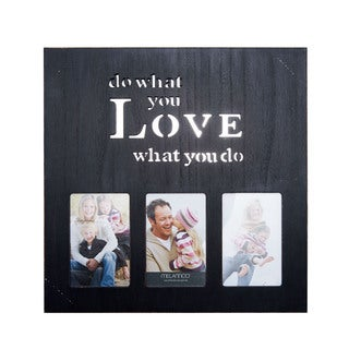 MelanncoBlack Wood 3-opening Do What You Love What You Do Box Collage